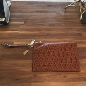 NWT Aldo wristlet Brown Leather